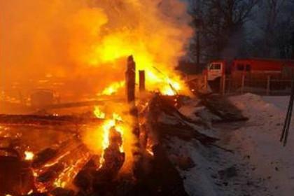В деревне под Торжком из-за страшного пожара люди остались «без крыши над головой» (фото)