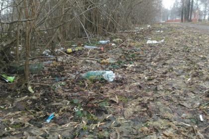 Городской парк и Аллея Памяти в Торжке утопает в мусоре. Фото: vk.com/podslushano_torzhok