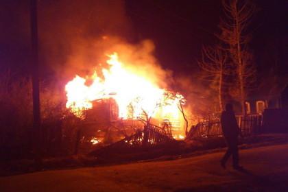 Пожар в Калашниково. Фото: 360Тверь.ру