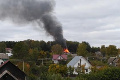 Пожар в Калашниково, 26 сентября 2017. Фото: 360tver.ru