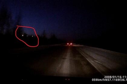 Странные ночные вспышки света. Фото: ТИА