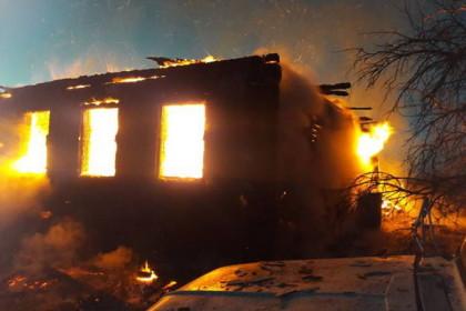 Пожар в деревне Бибиково