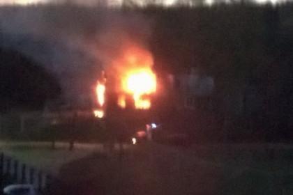 Пожар на улице Лесной. Фото: Людмила Ковалева
