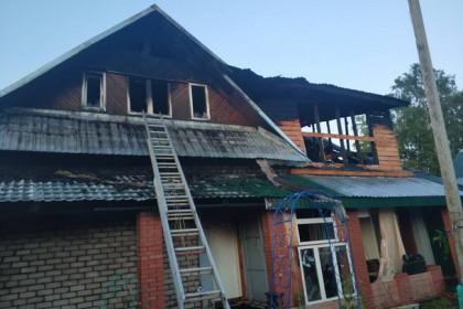 Пожар в продуктовом магазине в Калашниково