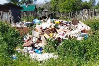 Несанкционированная свалка в поселке Калашниково