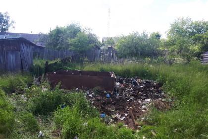 Убранная несанкционированная свалка в поселке Калашниково