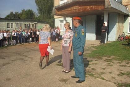 Учения в Калашниковской СОШ. Фото: 69.mchs.gov.ru