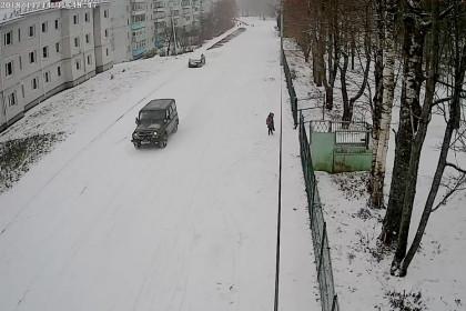 Поселок Калашниково, 14 ноября 2018. Снимок с камеры видеонаблюдения
