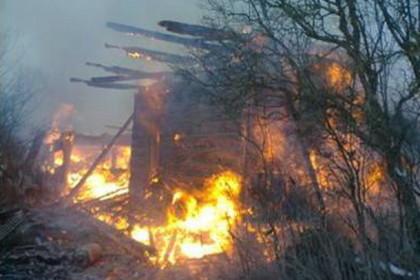 В Торжокском районе из-за короткого замыкания сгорел жилой дом. Фото: МЧС