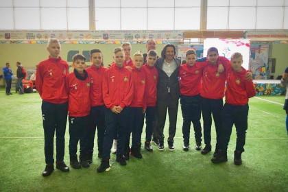 Лихославльские футболисты вместе с известным российским футболистом Алексеем Смертиным