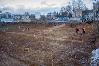 Строительство нового детского сада. Фото: Евгений Козлов