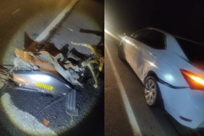Полицейский на машине сбил троих подростков на скутере, все дети погибли