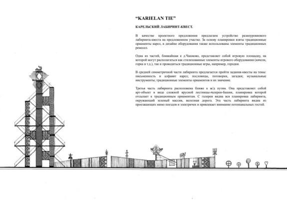 эскиз к проекту «Карельский путь»
